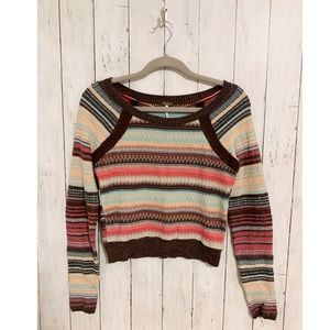 FREE PEOPLE Cropped Pullover Sweater